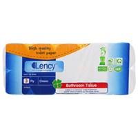 Giấy vệ sinh cao cấp Lency 10 cuộn x 3 lớp (không lõi)