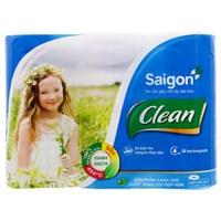Giấy vệ sinh Sài Gòn Clean lốc 6 cuộn 2 lớp