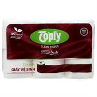 Giấy vệ sinh Toply Clean Tissue 12 cuộn 2 lớp