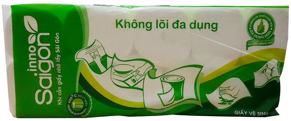 Giấy vệ sinh Sài Gòn Inno không lõi gói 10 cuộn