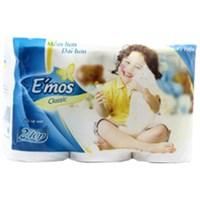 Giấy vệ sinh E'mos classic xanh gói 12 cuộn 2 lớp