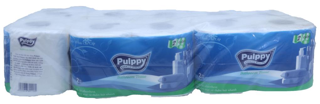 Giấy vệ sinh Pulppy 5 gói (gói 2 cuộn)