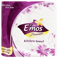 Giấy vệ sinh E'mos Premium gói 2 cuộn 2 lớp