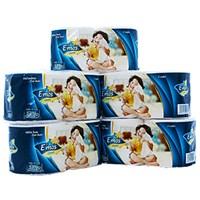 Giấy vệ sinh E'mos Classic gói 10 cuộn 2 lớp (lốc 5 gói)