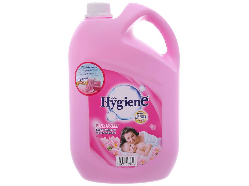 Nước xả cho bé Hygiene Pink Sweet hương hoa can 3.5 lít 2