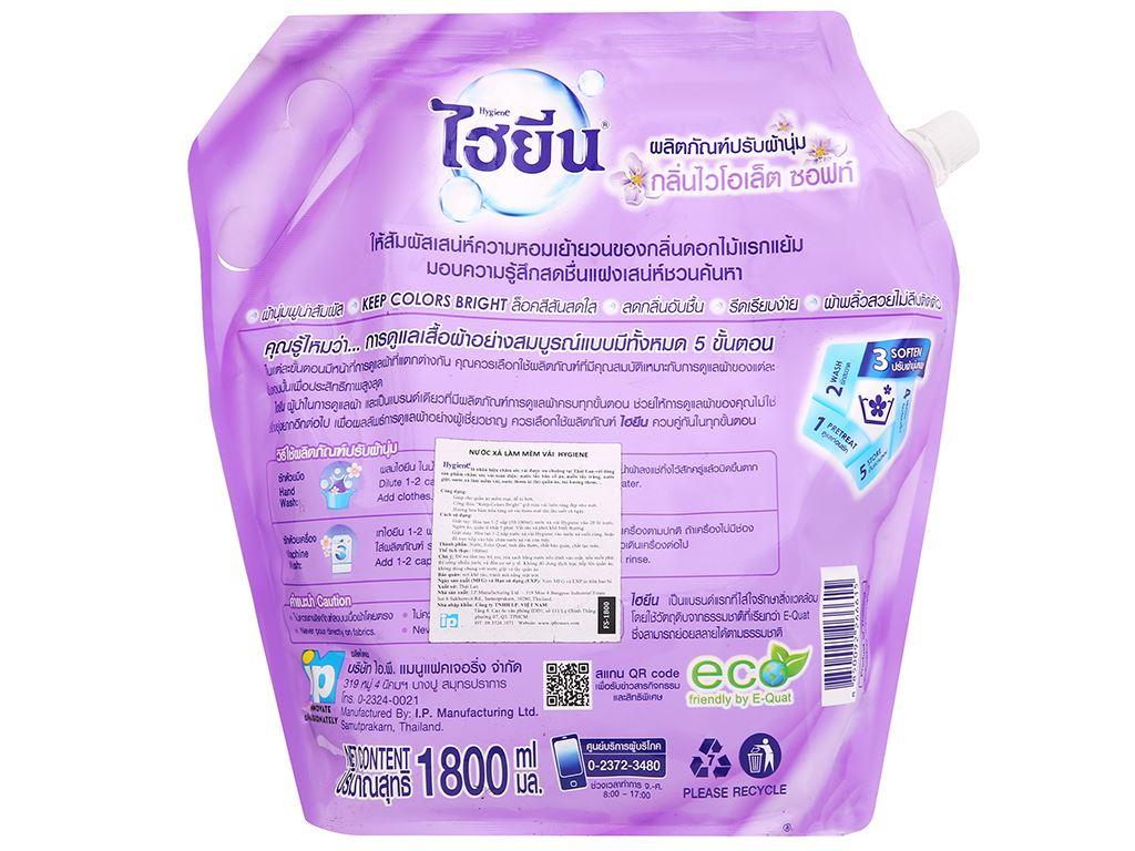 Nước xả cho bé Hygiene Violet Soft túi 1.8 lít 4