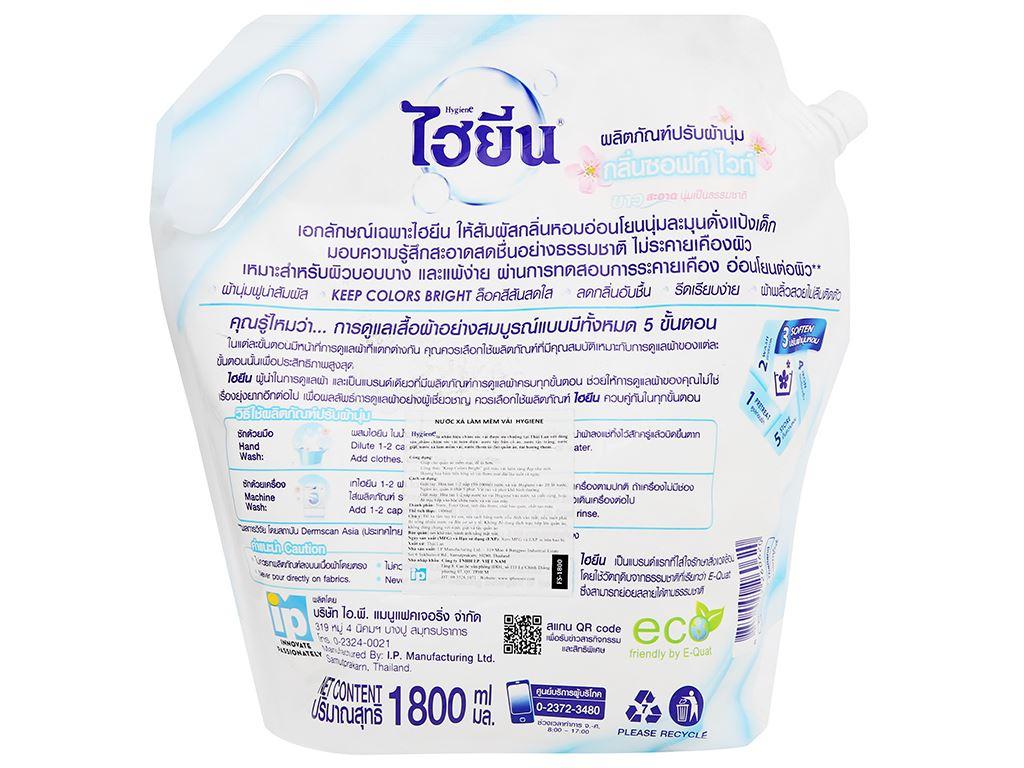 Nước xả cho bé Hygiene Soft White túi 1.8 lít 4