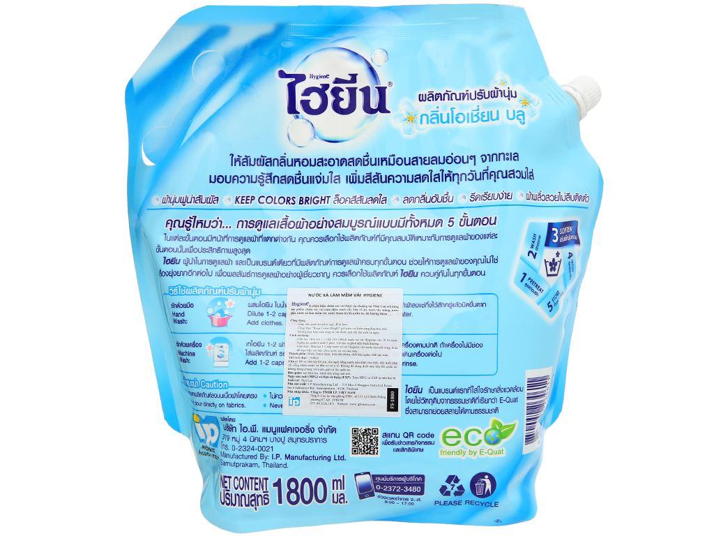 Nước xả cho bé Hygiene Ocean Blue túi 1.8 lít 2
