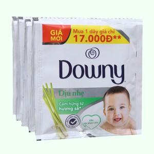 Nước xả cho bé Downy dịu nhẹ hương sả 10 góix21ml