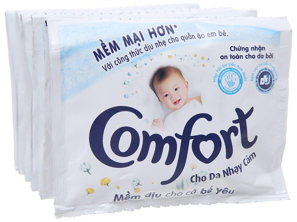 Nước xả cho bé Comfort cho da nhạy cảm hương phấn 10 góix20ml 4
