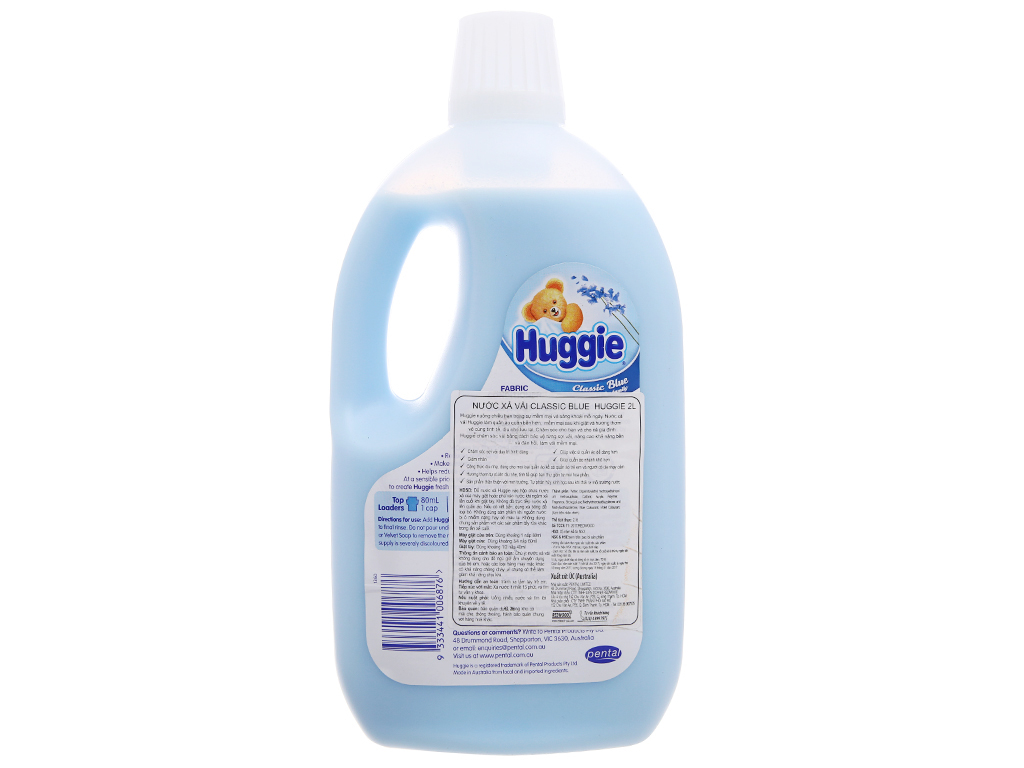 Nước xả cho bé Huggiess hương biển chai 2 lít 3