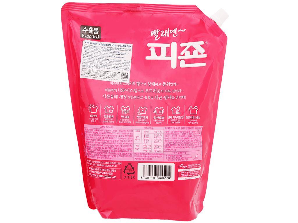 Nước xả cho bé Pigeon hương hoa hồng túi 2.1 lít 2