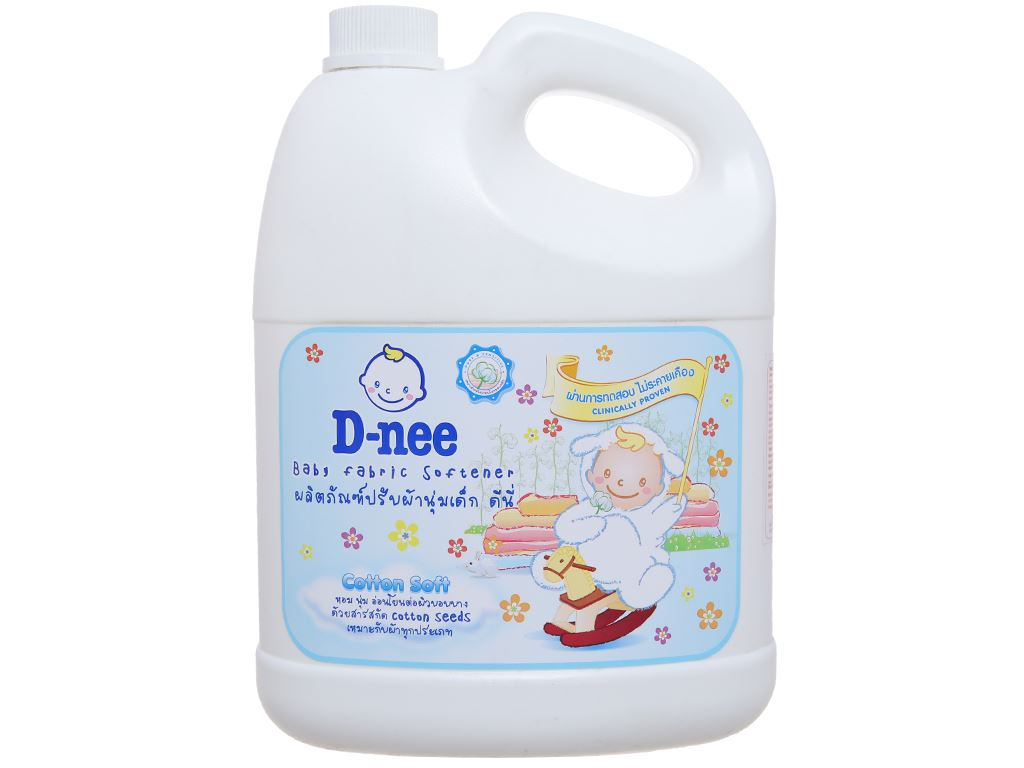 Nước xả cho bé D-nee trắng can 3 lít 2