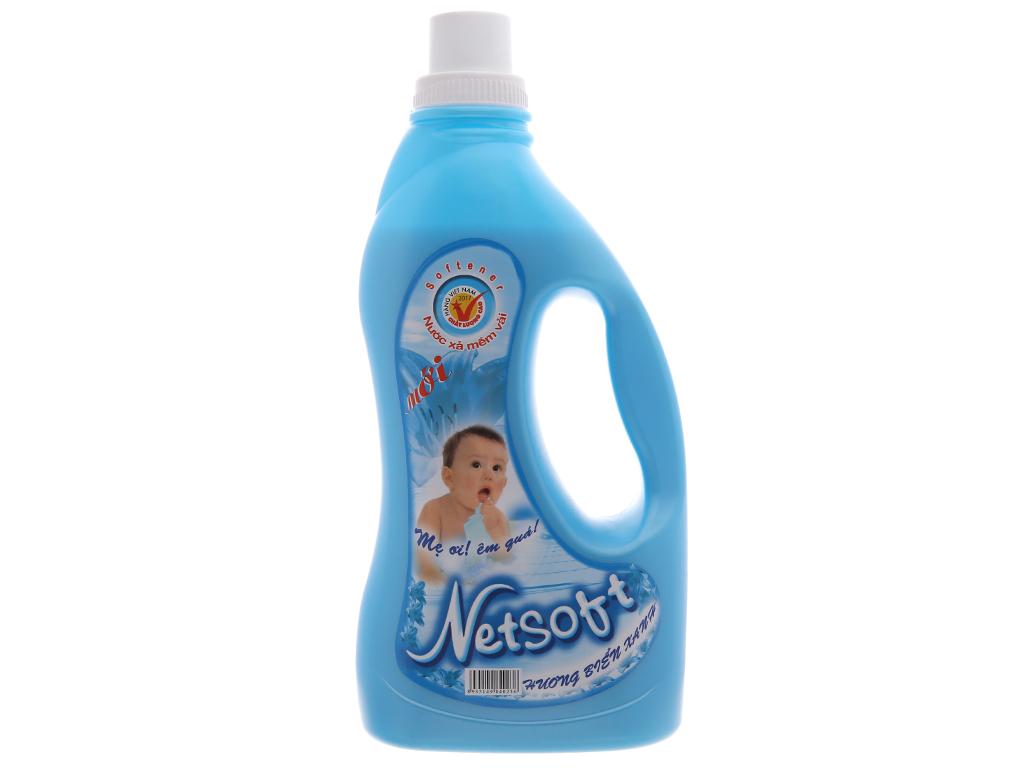 Nước xả cho bé Netsoft hương biển xanh chai 2 lít 2