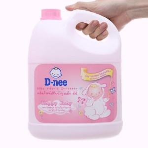 Nước xả cho bé D-nee hồng can 3 lít