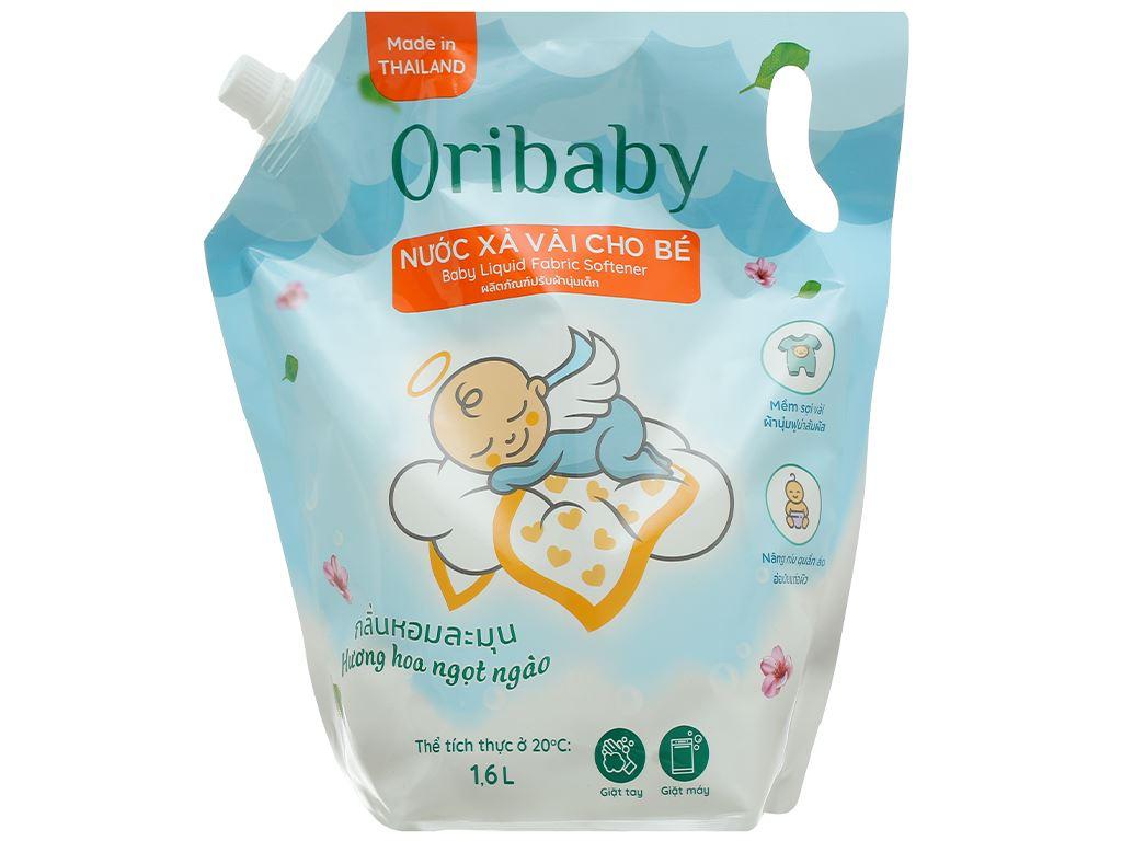 Nước xả cho bé Oribaby hương hoa ngọt ngào túi 1.6 lít 1