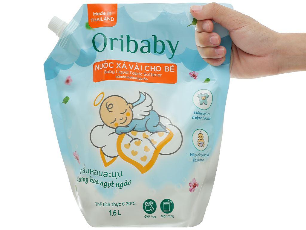 Nước xả cho bé Oribaby hương hoa ngọt ngào túi 1.6 lít 4