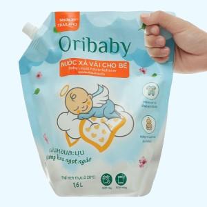 Nước xả cho bé Oribaby hương hoa ngọt ngào túi 1.6 lít