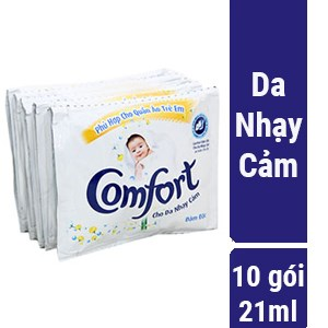 Nước xả Comfort cho da nhạy cảm gói 21ml (dây 10 gói)