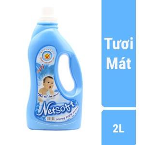 Nước xả Netsoft hương Biển Xanh chai 2 lít