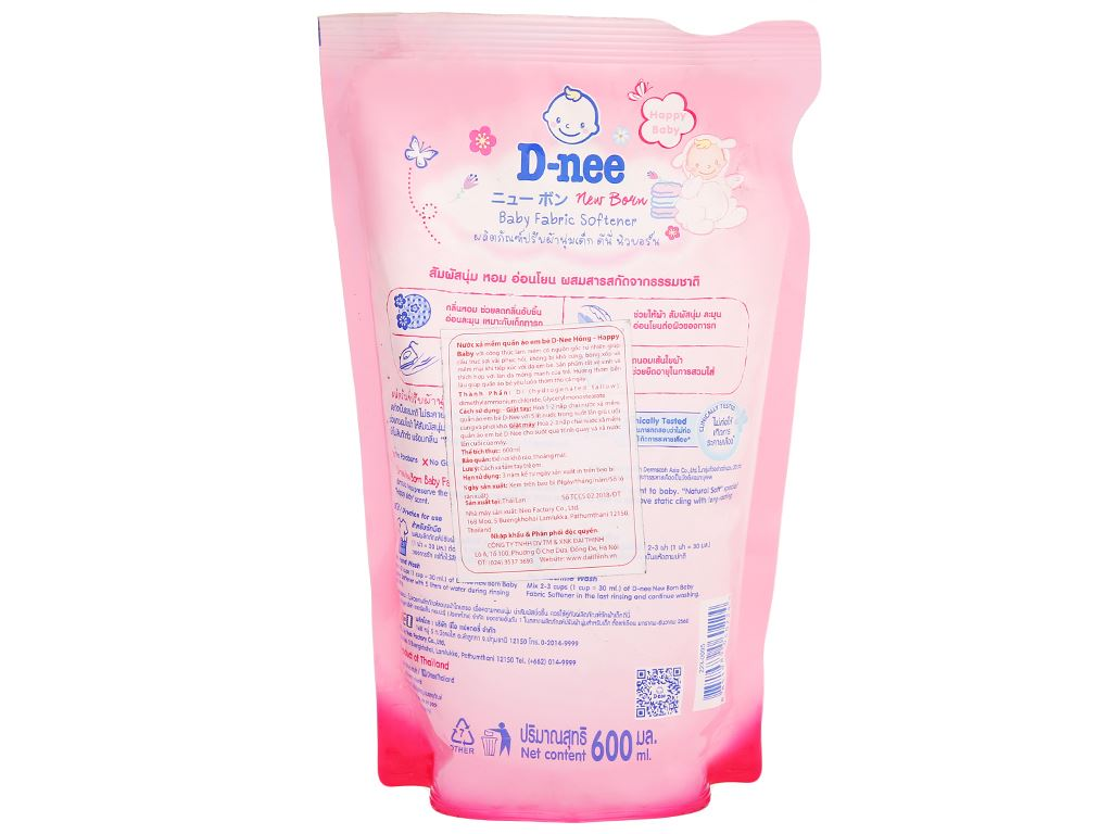Nước xả cho bé D-nee hồng túi 600ml 2