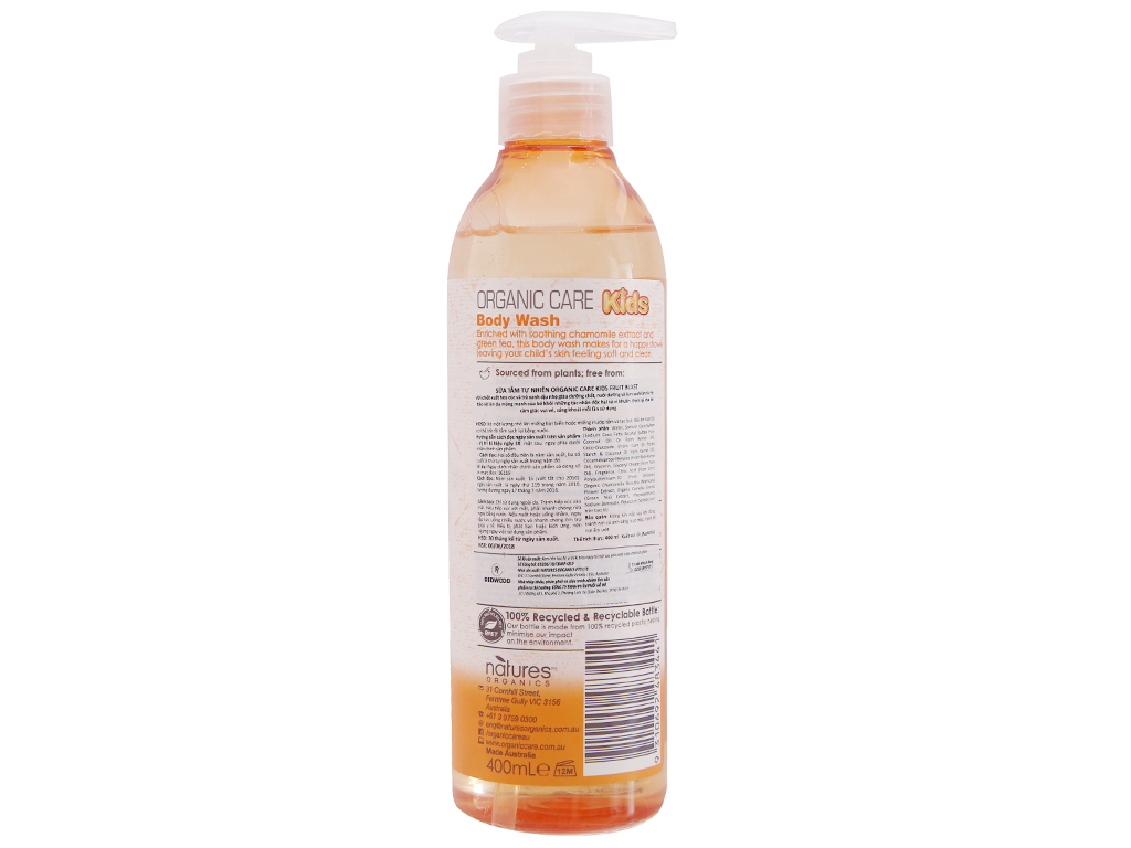 Sữa tắm cho bé Organic Care Kids Fruit Blash 400ml 3