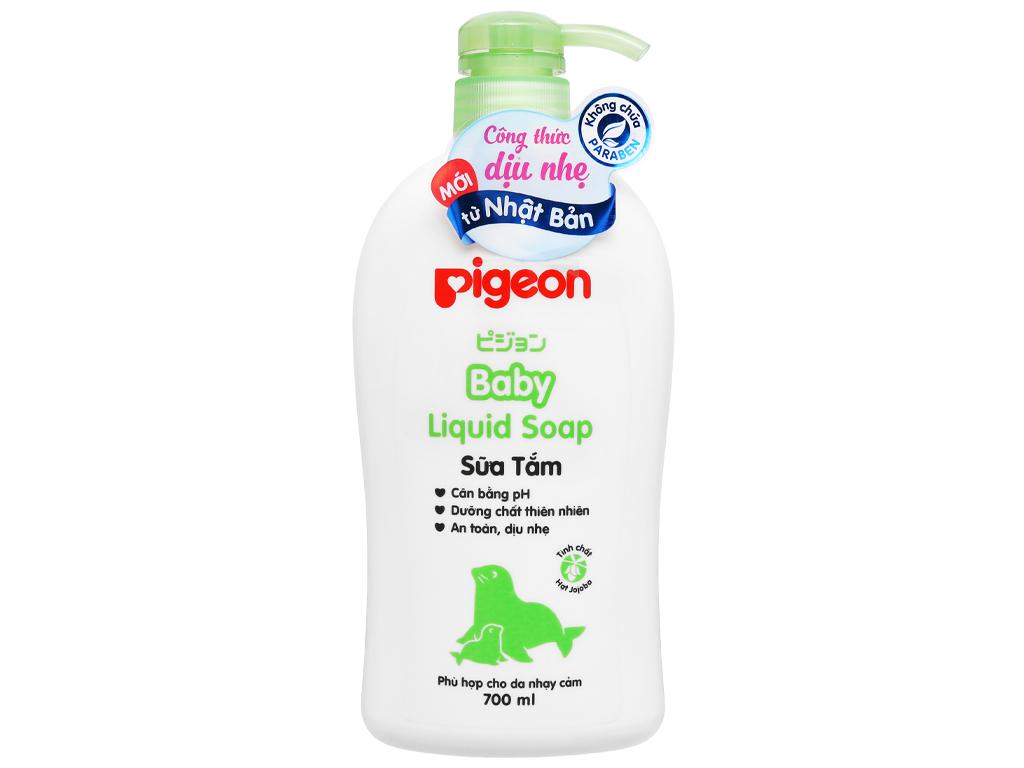 Sữa tắm cho bé Pigeon Liquid Soap chiết xuất Jojoba 700ml 5