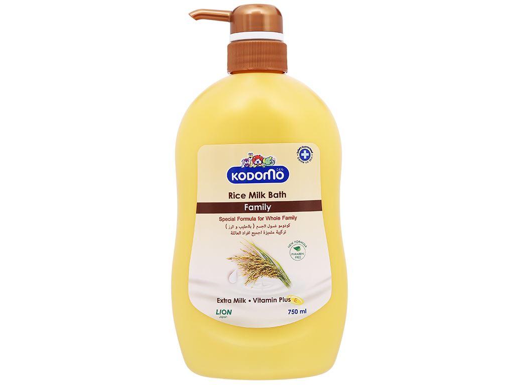 Sữa tắm cho bé Kodomo tinh chất sữa gạo 750ml 6