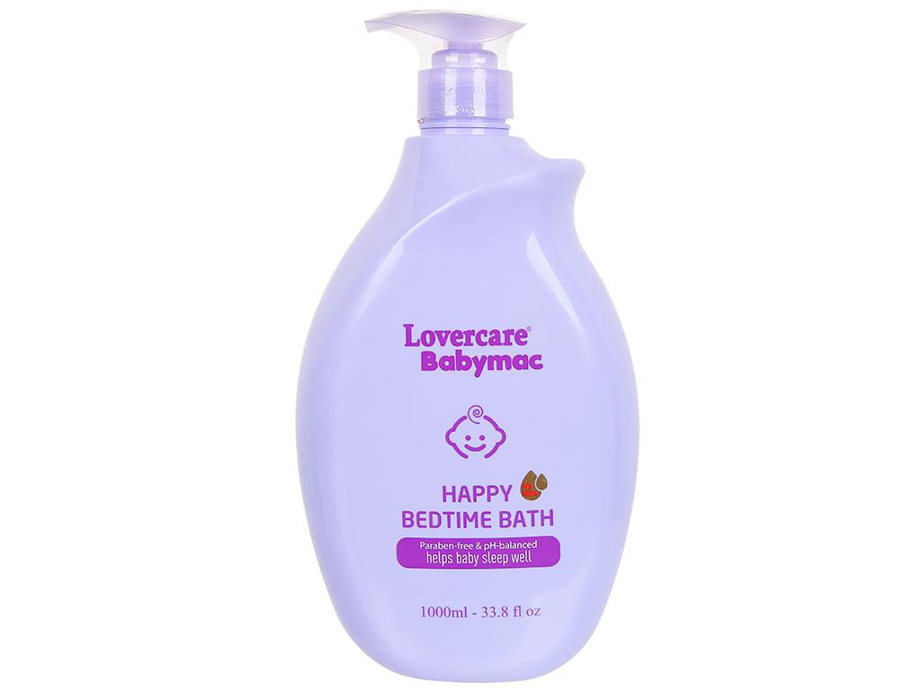 Sữa tắm cho bé Lovercare Babymac Happy Bedtime Bath 1lít 1