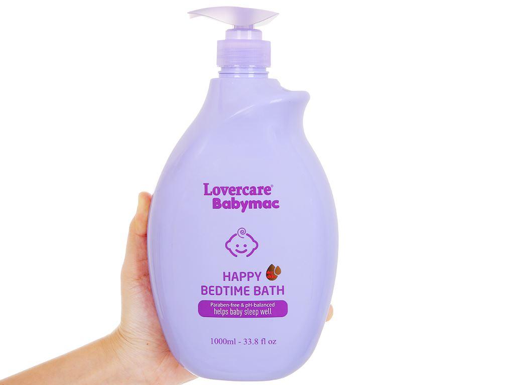 Sữa tắm cho bé Lovercare Babymac Happy Bedtime Bath 1lít 5