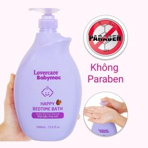 Sữa tắm cho bé Lovercare Babymac Happy Bedtime Bath 1lít