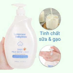 Sữa tắm cho bé Lovercare Babymac Milk Bath with Rice 1lít