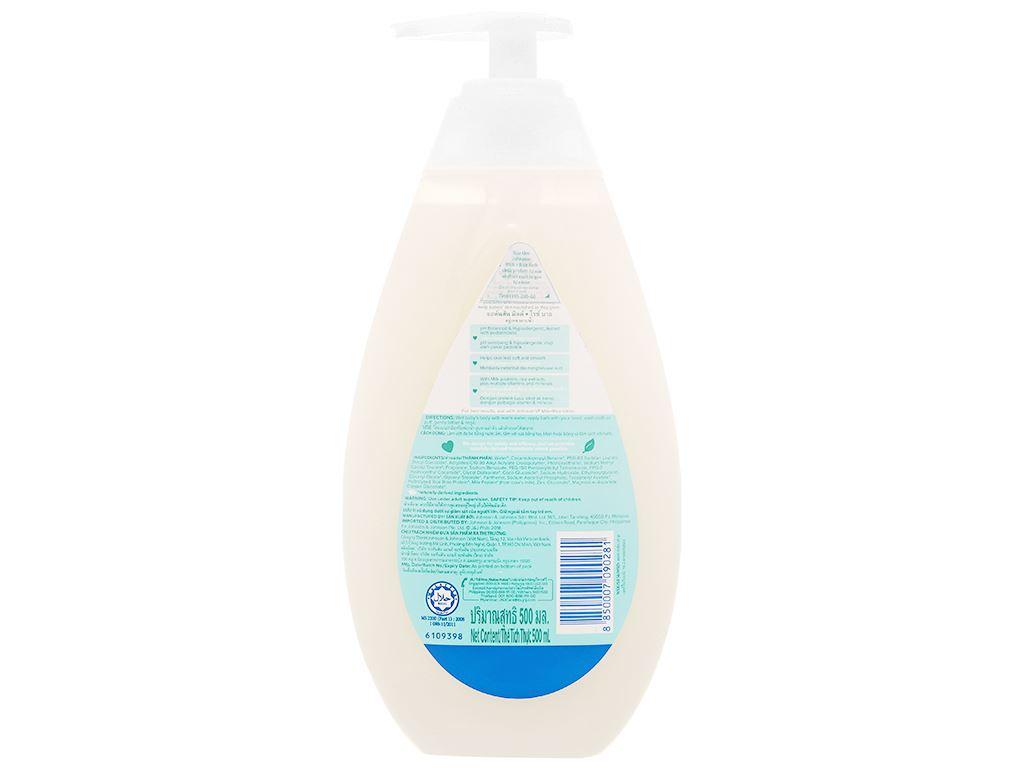 Sữa tắm cho bé Johnson's chứa sữa và gạo 500ml 8