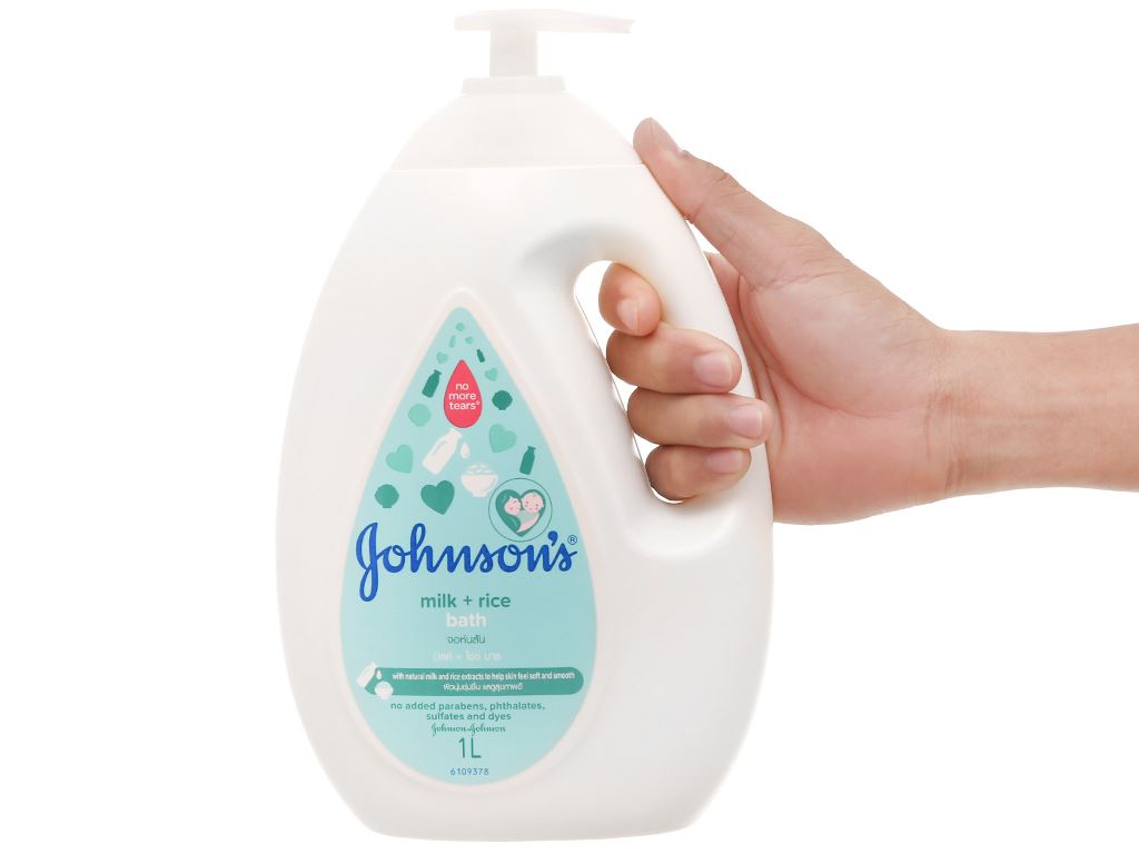 Sữa tắm cho bé Johnson's Baby chứa sữa và gạo 1lít 5