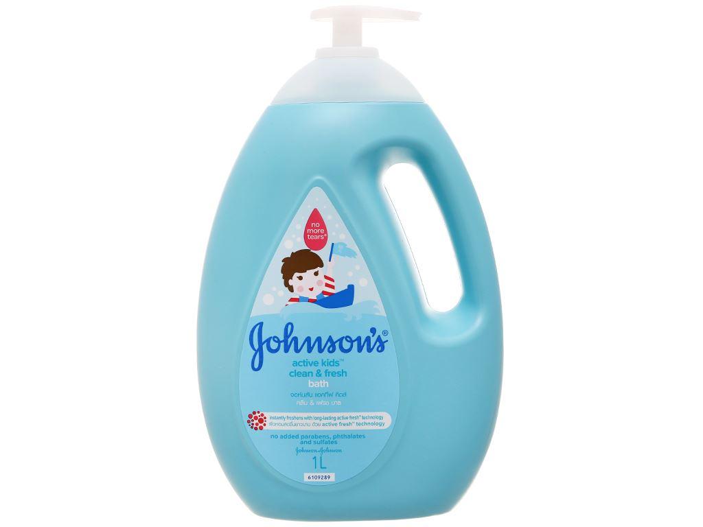 Sữa tắm cho bé Johnson's Active Fresh thơm mát năng động 1lít 1