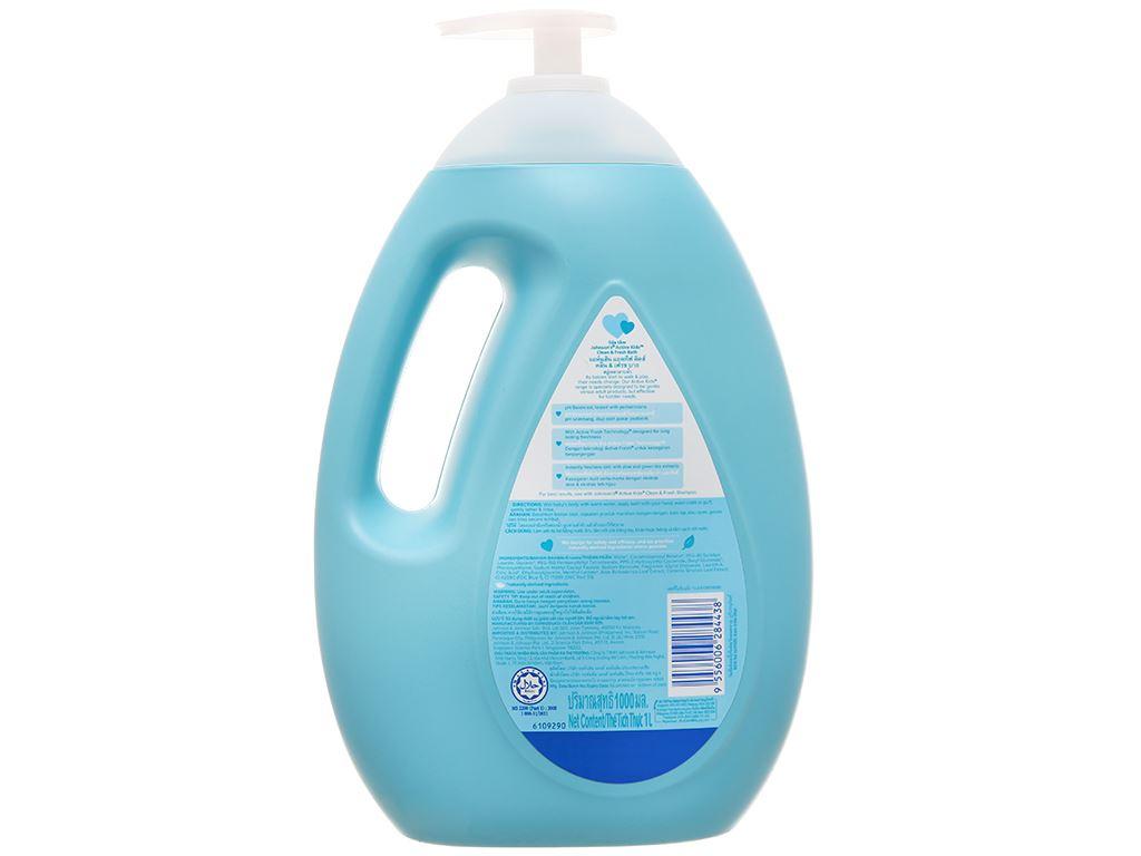 Sữa tắm cho bé Johnson's Active Fresh thơm mát năng động 1lít 2