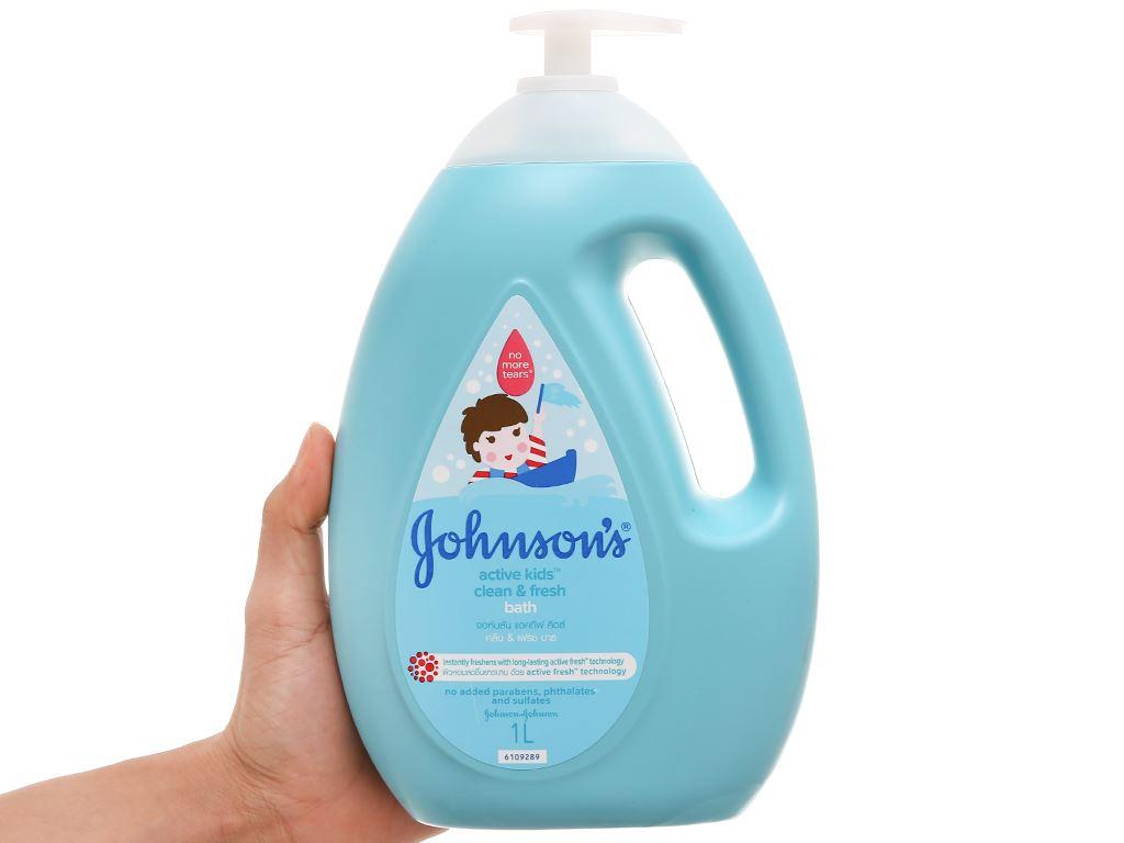 Sữa tắm cho bé Johnson's Active Fresh thơm mát năng động 1lít 4
