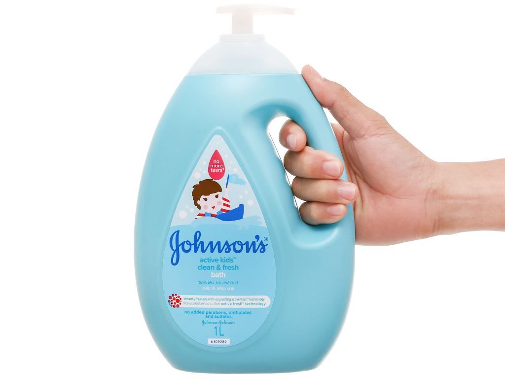 Sữa tắm cho bé Johnson's Active Fresh thơm mát năng động 1lít 5
