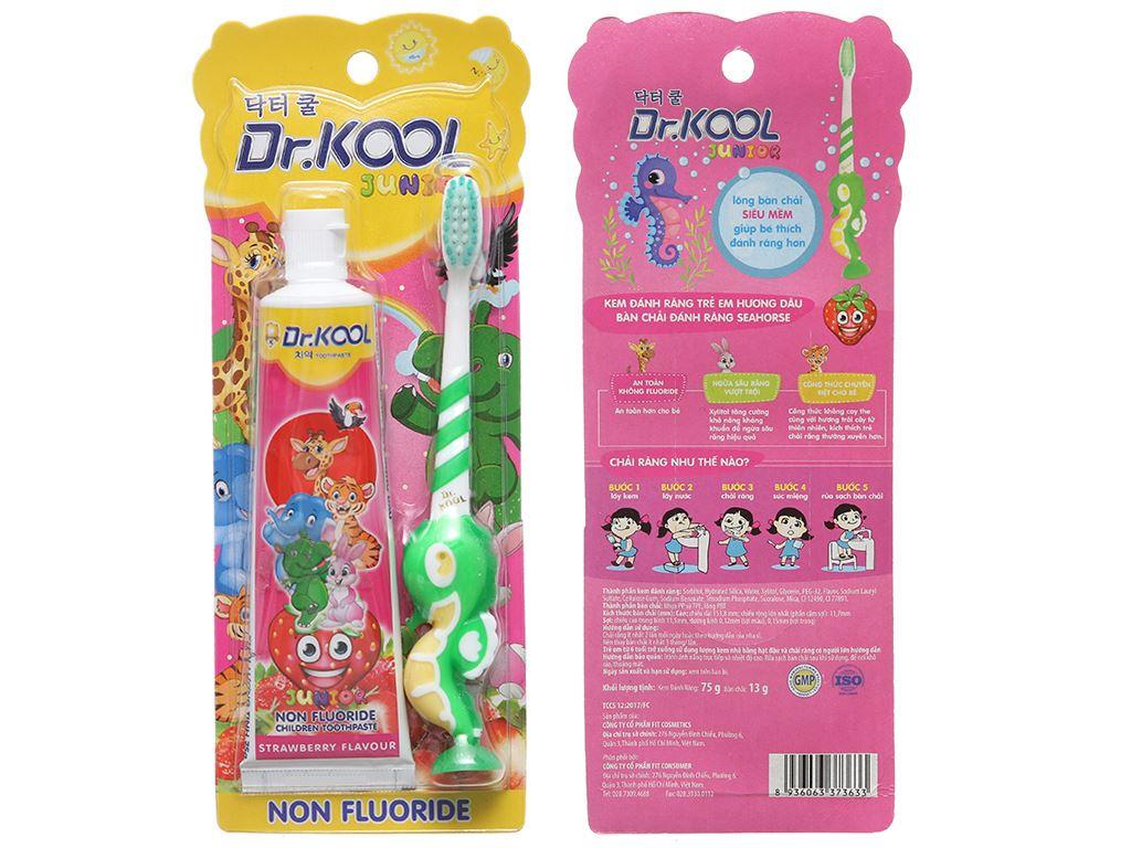 Combo bàn chải và kem đánh răng cho bé trên 8 tuổi Dr. Kool Junior lông siêu mềm 2