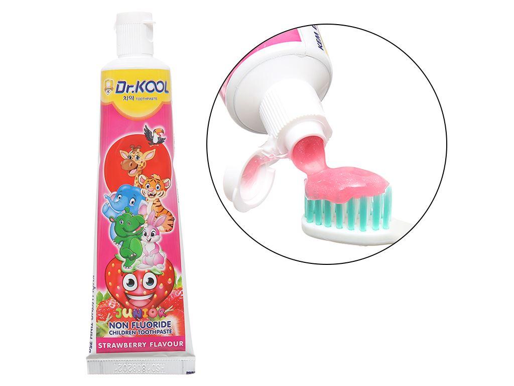 Combo bàn chải và kem đánh răng cho bé trên 8 tuổi Dr. Kool Junior lông siêu mềm 5
