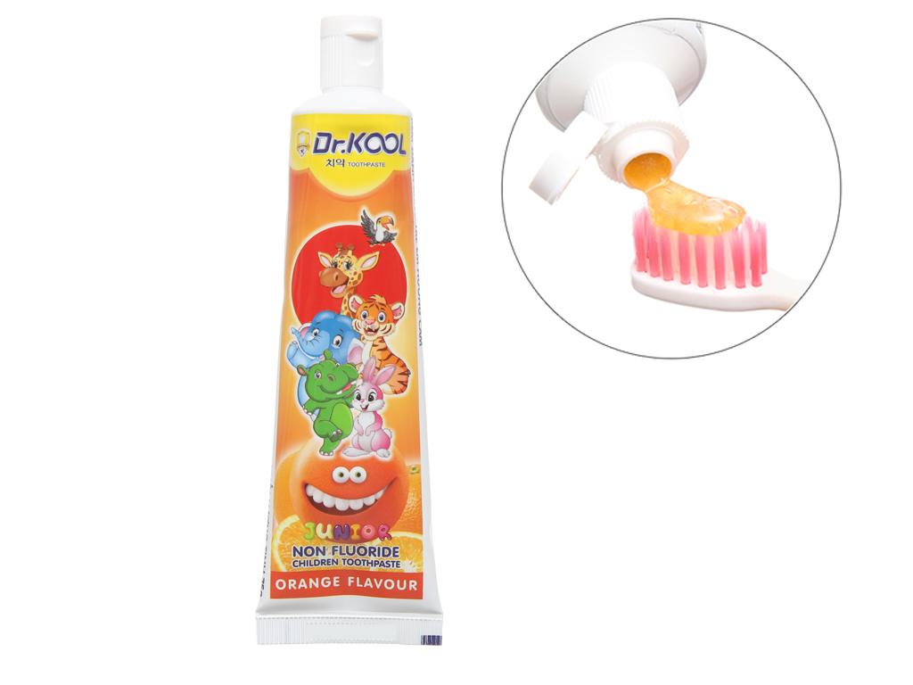 Combo bàn chải và kem đánh răng cho bé trên 8 tuổi Dr. Kool Junior lông siêu mềm hương cam 4