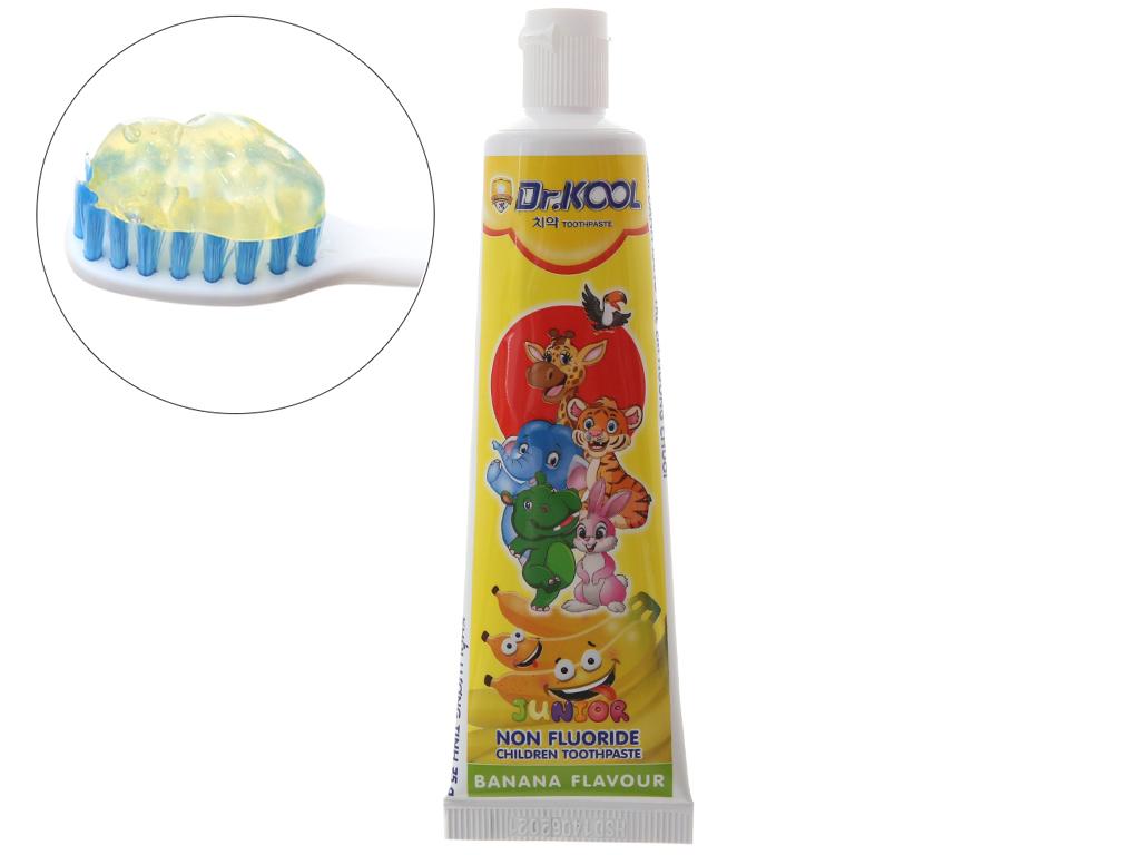Combo bàn chải và kem đánh răng cho bé trên 6 tuổi Dr. Kool Junior lông mềm hương chuối (giao màu ngẫu nhiên) 5
