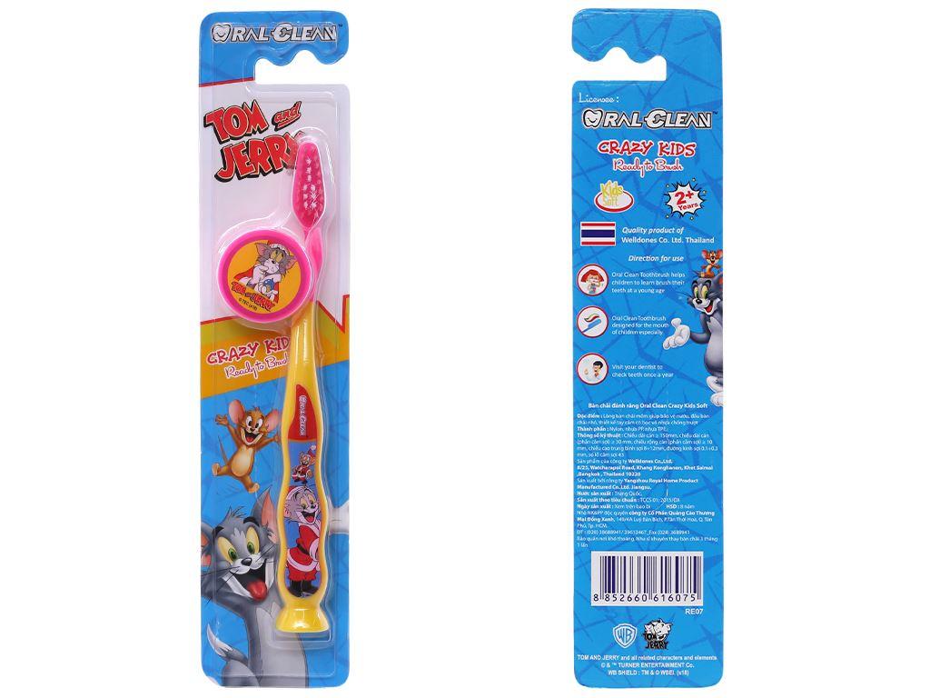 Bàn chải cho bé 2 - 6 tuổi Oral-Clean Crazy Kids lông mềm 1