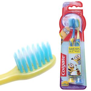 Bộ 2 bàn chải cho bé 5 - 9 tuổi Colgate Minion lông siêu mềm