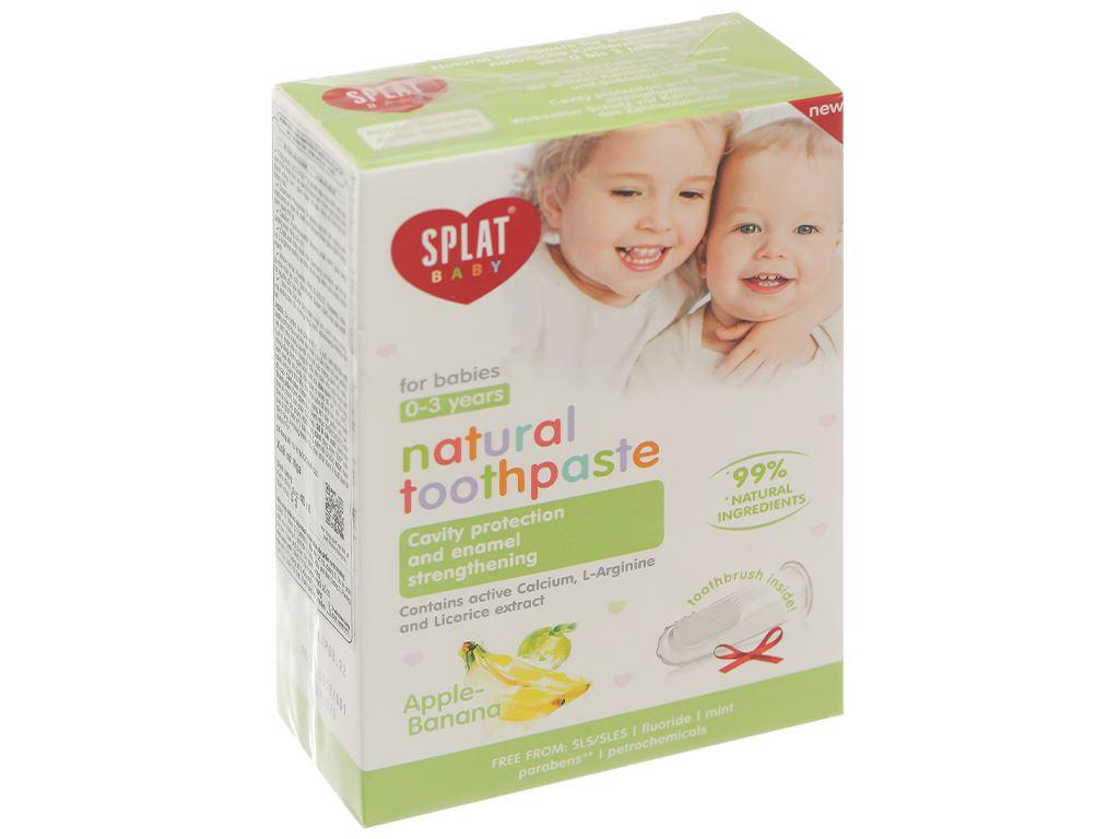 Combo bàn chải và kem đánh răng cho bé 0 - 3 tuổi Splat hương táo - chuối 1