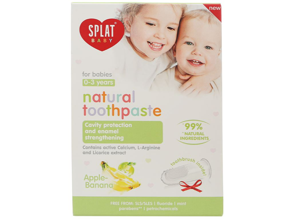 Combo bàn chải và kem đánh răng cho bé 0 - 3 tuổi Splat hương táo - chuối 2