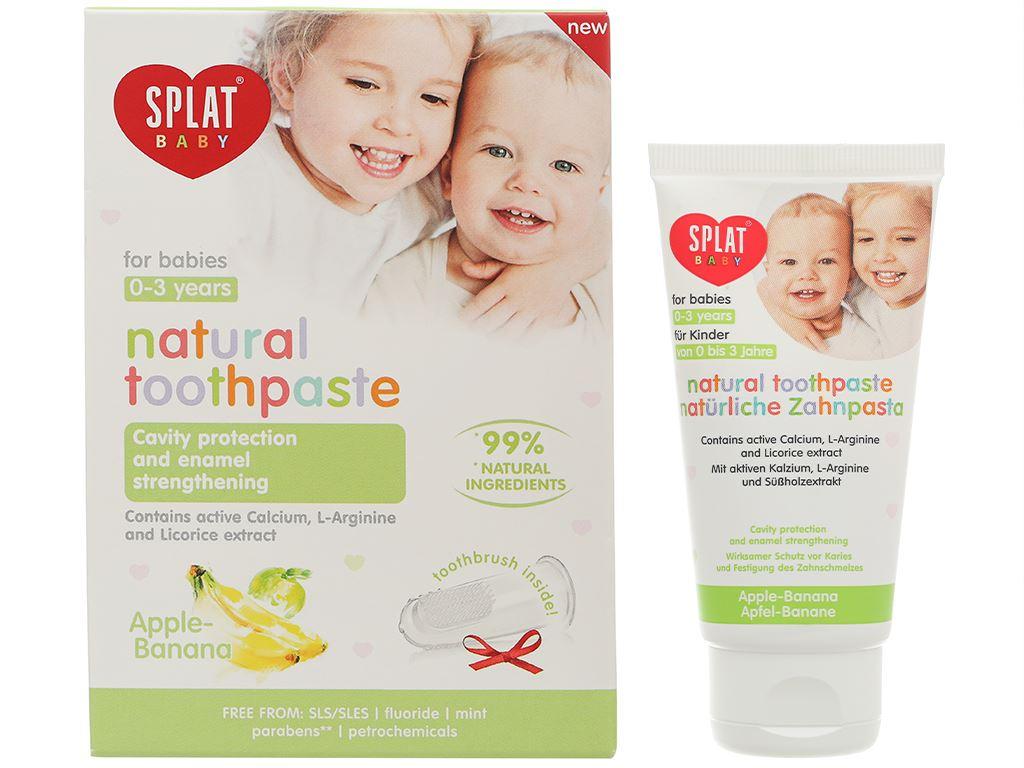 Combo bàn chải và kem đánh răng cho bé 0 - 3 tuổi Splat hương táo - chuối 7