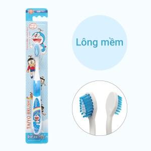 Bàn chải cho bé 6 - 12 tuổi Taiyo Doraemon Blue lông mềm (giao màu ngẫu nhiên)