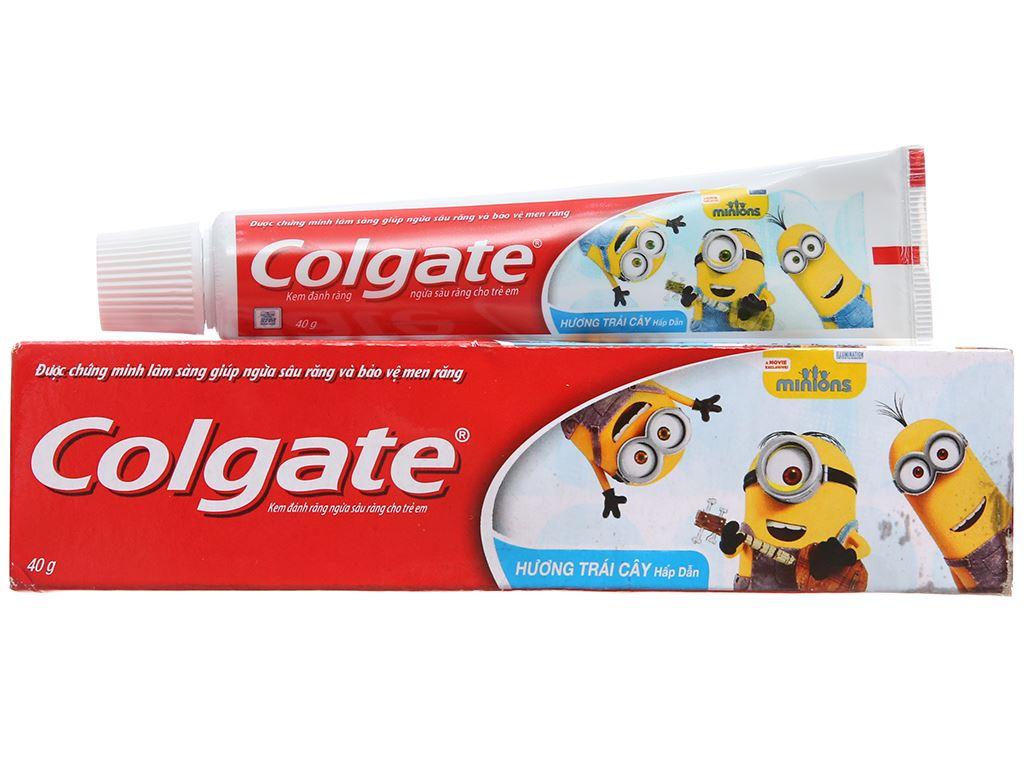 Kem đánh răng cho bé dưới 6 tuổi Colgate Minions hương trái cây 40g 2