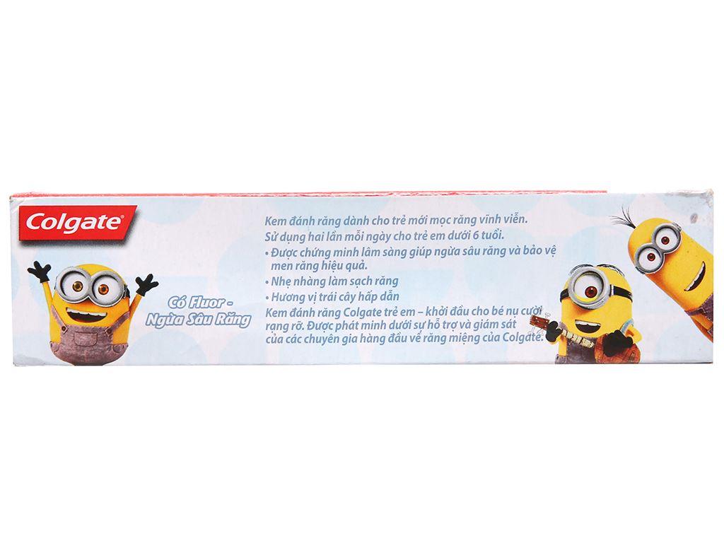 Kem đánh răng cho bé dưới 6 tuổi Colgate Minions hương trái cây 40g 3